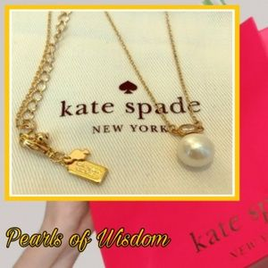 New♠️kate spade Pearls of Wisdom Necklace!